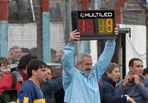 Carteles luminosos led argentina fútbol cambio de jugador