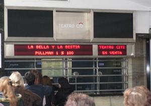 Carteles cines y teatros Teatro City Avenida Corrientes