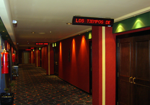 Señalizar iluminacion led cine La Plata