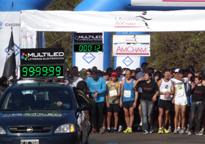 Reloj electronico cronómetro maratón AMCHAM