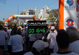 Carteles publicidad cronómetro maratón