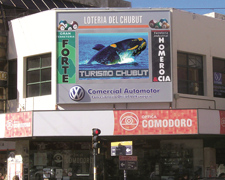 LEDs pantallas frente al mar Comodoro Rivadavia Chubut