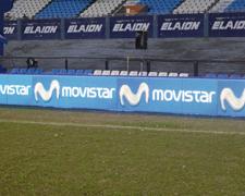 Campañas publicitarias la pantalla led Movistar