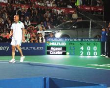 Que es pantalla led Agassi Estadio tenis