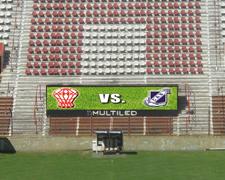 Pantalla de led publicitaria Estadio Huracán
