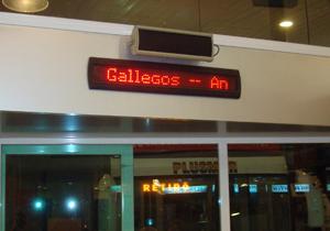 Letreros Terminal de Ómnibus Bahía Blanca