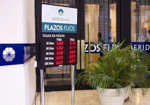 Pizarras divisas Banco Meridian