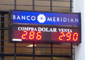 Carteles electronicos led pizarra Banco Meridian Florida