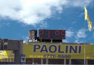 Relojes led Paolini Grúas Panamericana