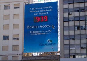 LED reloj Bank Boston 9 de Julio