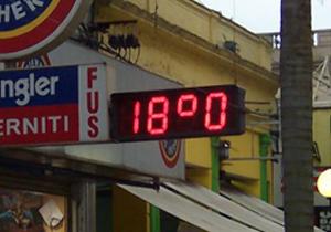 Reloj electrónico comercios