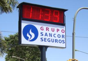 LED reloj Sancor Seguros