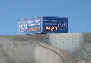 Reloj leds Banco Ciudad 9 de Julio
