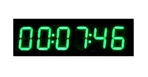 Reloj LEDs cronometros