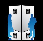 Repetidor permite visualizar el número de turno desde cualquier posición
