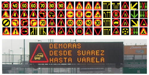 Carteles de señalización variable VMS (Variable Message Signs)